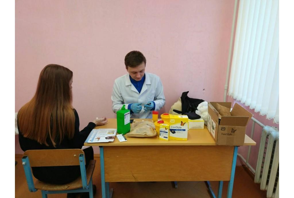Участие в скрининг - акции, приуроченной ко Дню борьбы с сахарным диабетом.